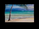 Palm tree beach Antigua