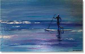 Paddle boarding in Antigua