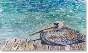 Pelican On Dock Antigua Yacht charter