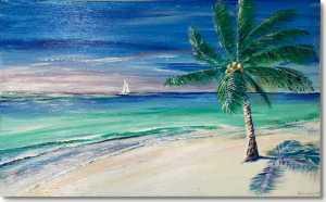 Palm Tree Antigua Beach swimming